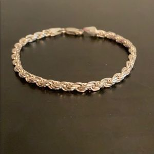 Thick Braid 925 Sterling Silver Bracelet 7 Inches
